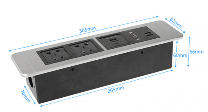 Aluminum Panel Rack Mount Power Strip Power Supply With Power Overload Protection