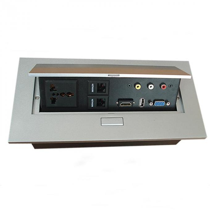 Hidden Conference Table Electrical Box Easy To Install Zinc Alloy