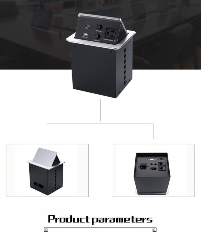 Desktop MultiFunction Port Conference Table Socket Direct Power Source Network USB HDMI Interface