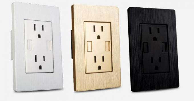American Wall Switch Socket Six Holes With Dual USB 3.1A 2.1A 50HZ