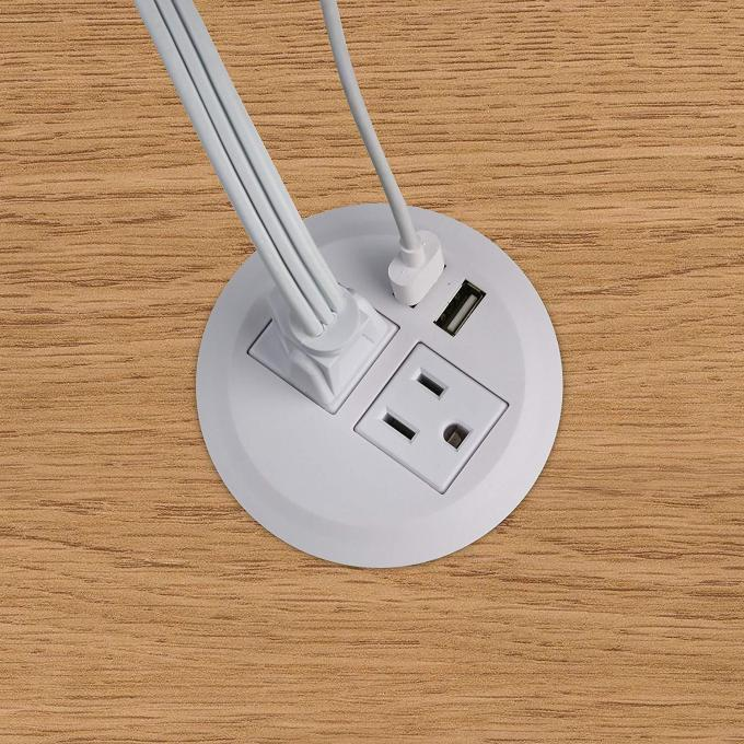 Office Sofa Charger Furniture Round Power Socket , USB Fast Charging Interface Conference Table Socket