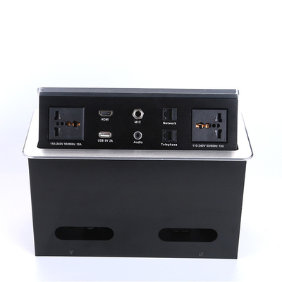 China Conference Table Pop Up Box Data And Power Socket With Usb Control Box / Desk Power Outlet supplier