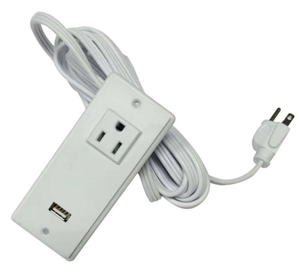 China 250V US Double USB Desk Plug Sockets American Standard Power Cords supplier