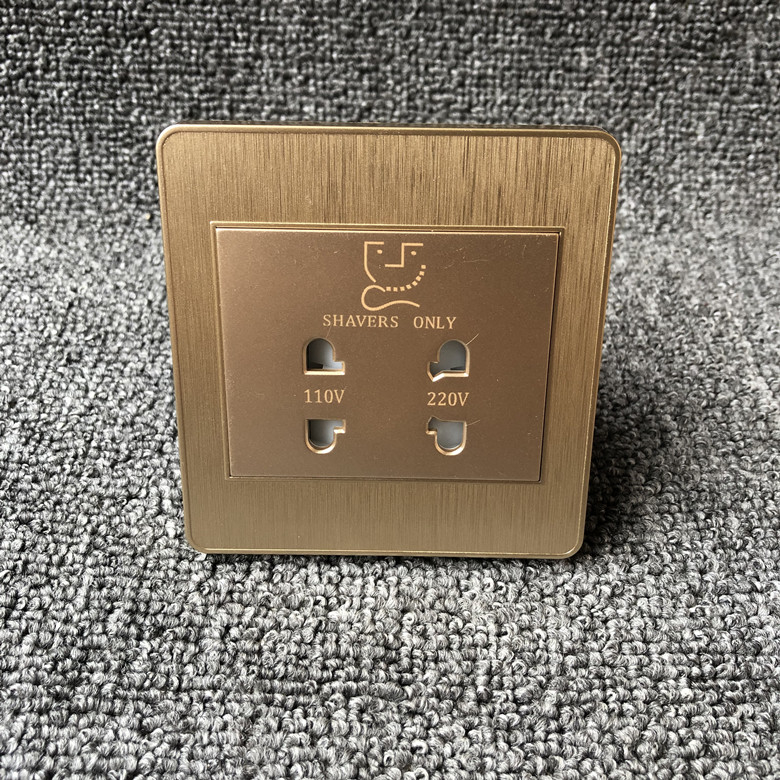 Dual Interface Conversion Razor Electric Shaver Socket For Hotel 220 Volt