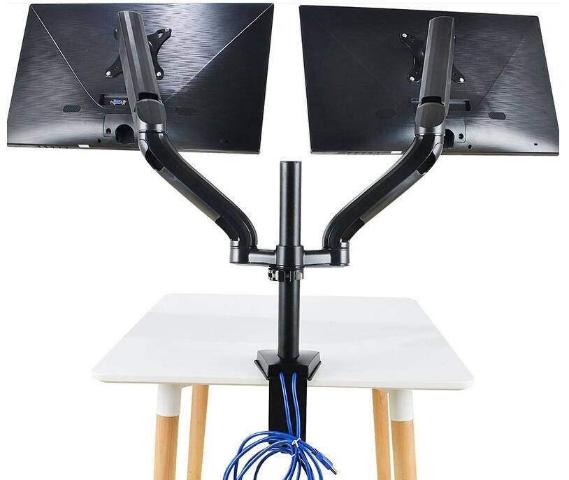 OEM LCD Monitor Lift , Telescopic Multi - Function Alloy Dual-Screen Display Computer Stand Rotary Lifting Bracket