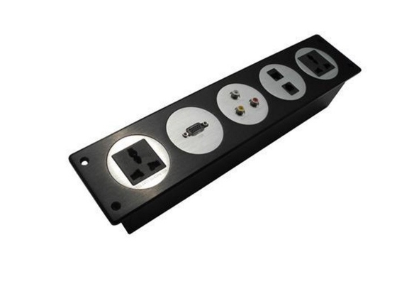 Multifunction Desktop Power Outlet With Usb For Conference Room , Including AV Group / VGA