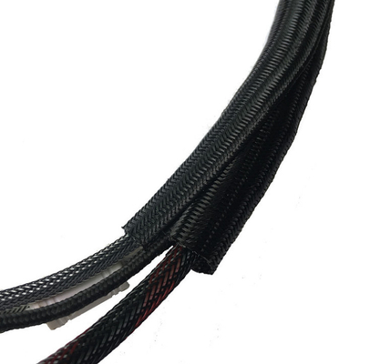 Self - Rolling Open Braided Vertical Tube Diameter 12mm Wire Harness Longitudinally Wrapped