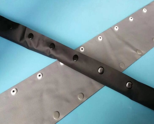 Dark Gray Under Table Cable Organizer , Environmentally Friendly Flame Retardant PVC Buckle Type Belt Line