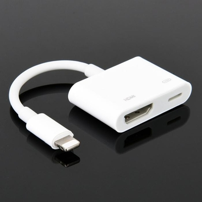 OEM Cable Cubby Box , Lightning To HDMI HD Line For Apple Mobile Phone To HDMI Converter With Screen