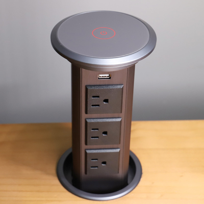 Multi - Function Motorized Pop Up Socket , Automatic Pop-Up Power Outlet