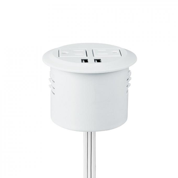 America AC Round Power Socket White Color 3 Inch Diameter 45mm Hole